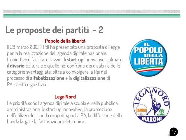 Le proposte dei partiti - 2                      Popolo della libertàIl 28 marzo 2012 il Pdl ha presentato una proposta di...