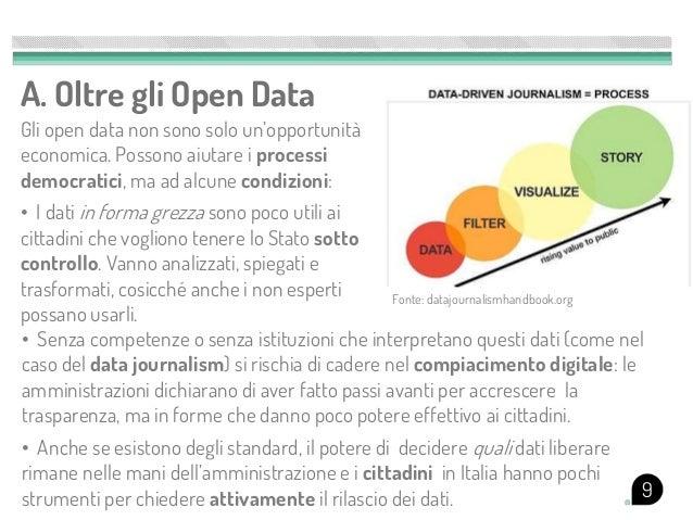 A. Oltre gli Open DataGli open data non sono solo un'opportunitàeconomica. Possono aiutare i processidemocratici, ma ad al...