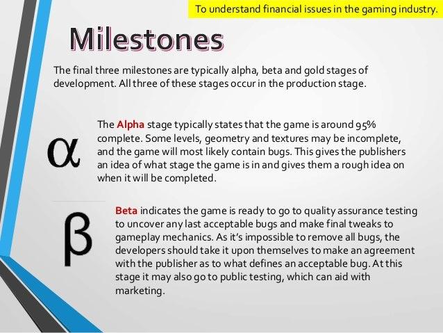 alpha beta games development stages