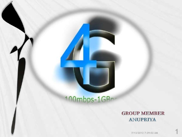 PRESENTATION BEGINNING                   GOALSINTRODUCTION                WHAT IS 4G    TO 4G