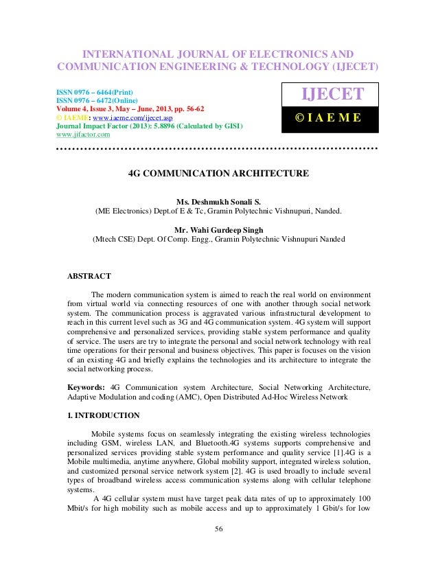 International Journal of Electronics and Communication Engineering & Technology (IJECET),ISSN 0976 – 6464(Print), ISSN 097...