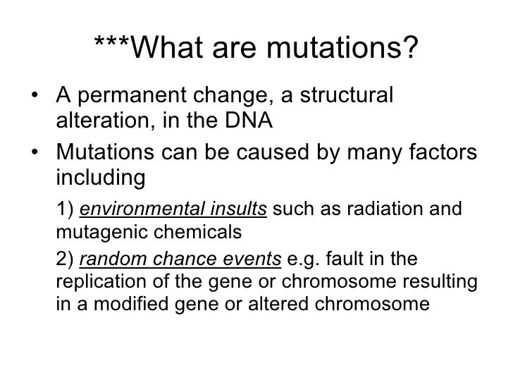 Are Mutations Caused By Natural Selection