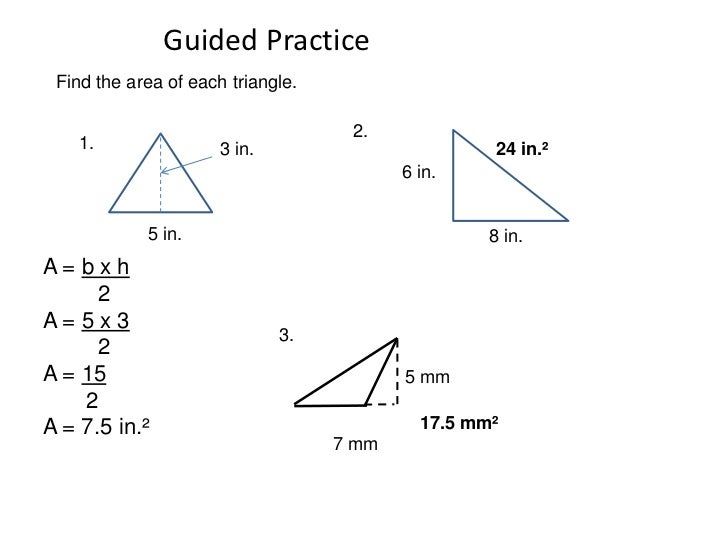 area of polygon worksheet