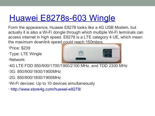 Huawei E8278s-603 Wingle  Form the appearance, Huawei E8278 looks like a 4G USB Modem, but  actually it is also a Wi-Fi do...