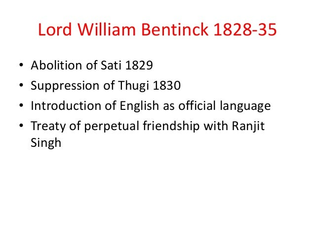 william bentinck sati