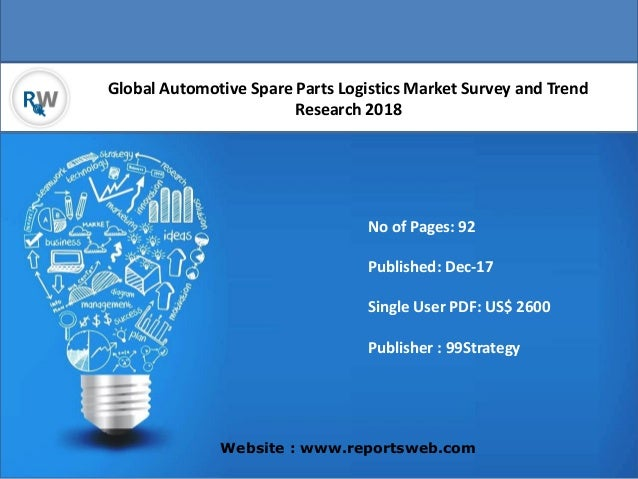 global spare parts logistics market Global automotive spare parts logistics market professional survey report 2018 with 110 pages available at usd 3500 for single user pdf at reportsweb research database.
