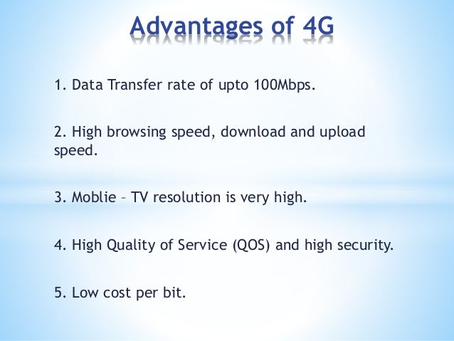 4g mobile technology and it's comparisons