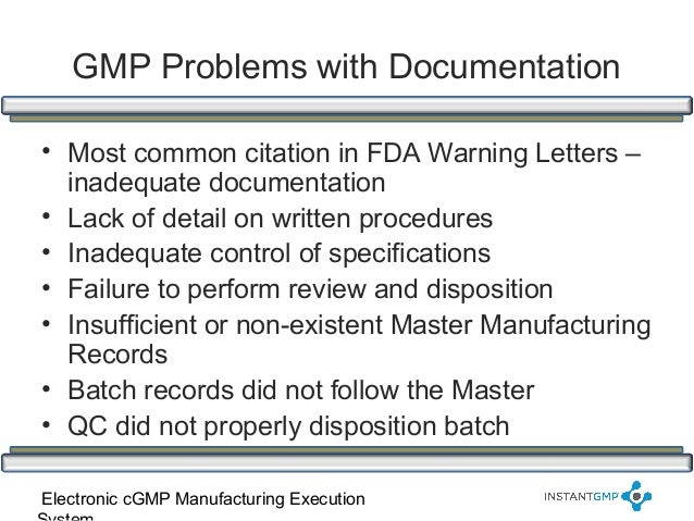 Instant GMP Compliance Series - Improving Documentation