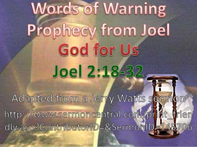 "Joel 2:18 NIV Then the LORD will be  jealous for his land and take pity on hispeople. 19 The LORD will reply to them: ""I a..."