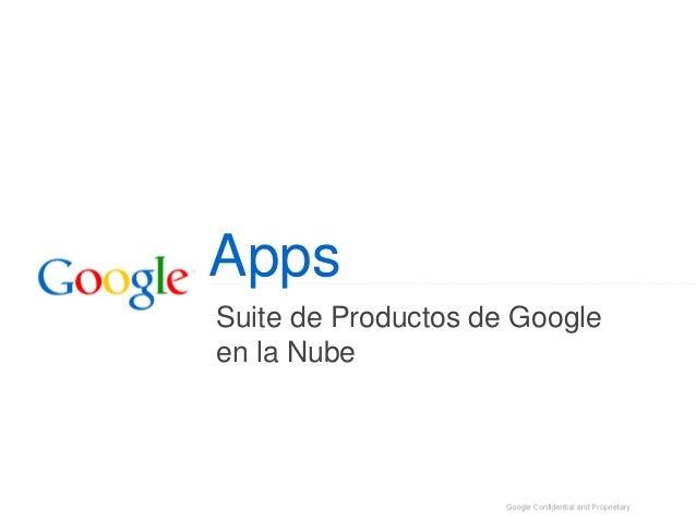 Apps Suite de Productos de Google en la Nube