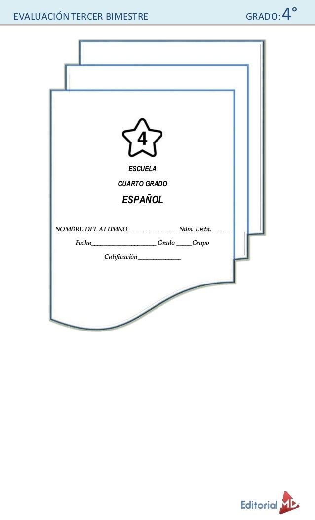 Examen para Primaria Cuarto Grado  Slide 2