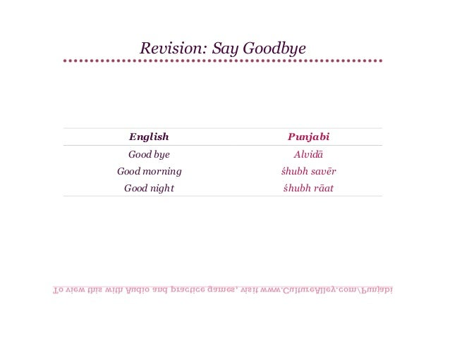 Basic punjabi lesson 4 greetings culturealleypunjabi 21 m4hsunfo