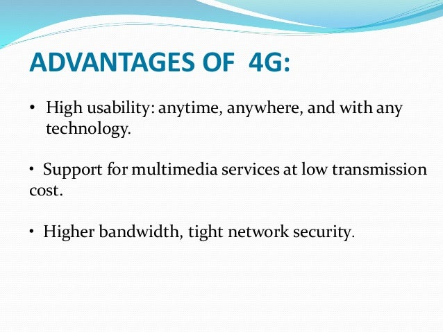 Limitations of 4g technology