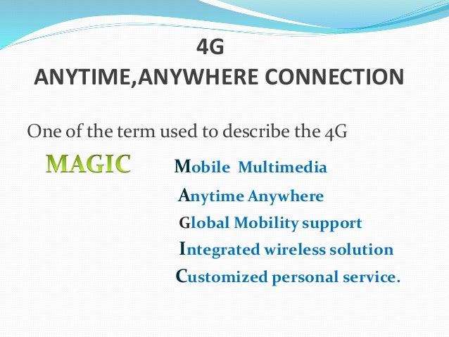 4g mobile communication This presentation is explaining all about the generations of mobile or cellular technology (1g/2g/25/ 3g/4g/5g) this explain the invented details ,features,drawbacks,look of wireless models and comparison and evolution of technology from 1g to 5g and also explaining about wireless application and their services.