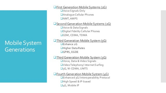 Mobile Communication Systems: from The Third to The Fourth Generation
