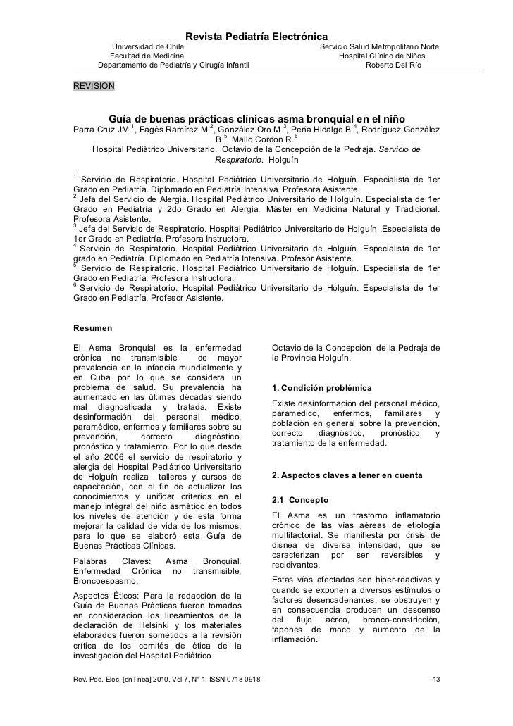 Revista Pediatría Electrónica          Universidad de Chile                                             Servicio Salud Met...