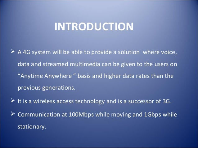 4G TECHNOLOGY INTRODUCTION EBOOK