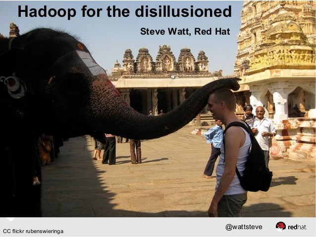 Hadoop for the disillusioned Steve Watt, Red Hat  CC flickr rubenswieringa  @wattsteve