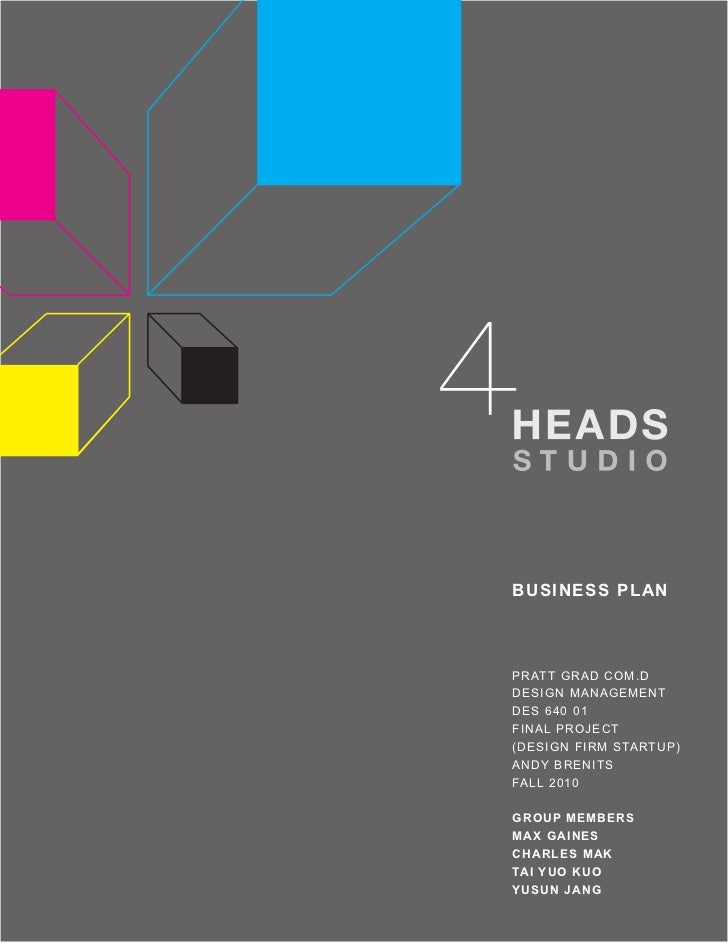 4 heads studio business plan accmission