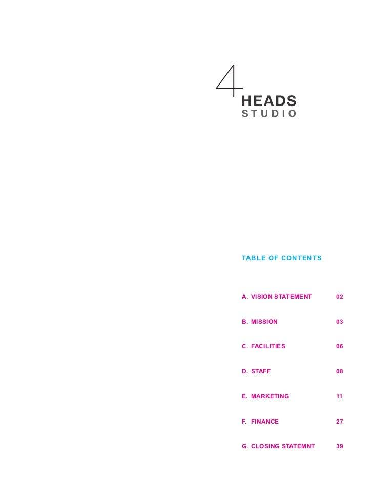 4 heads studio business plan Slide 2
