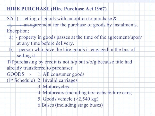 hire purchase act