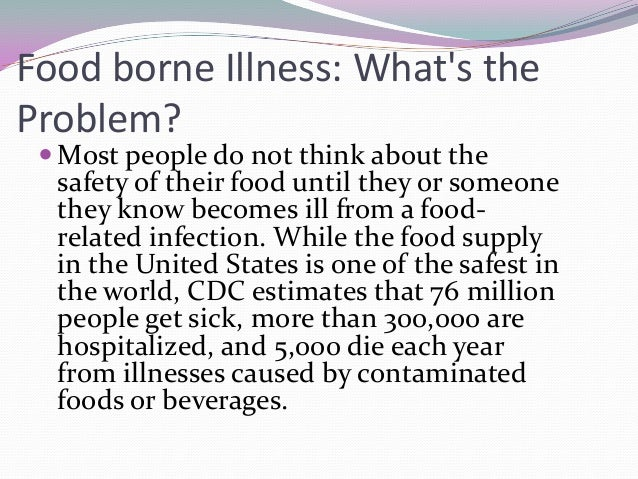 How Many People Get Food Borne Illness Each Year