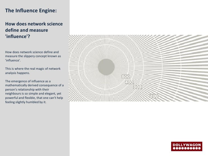 The Influence Engine:  How does network science define and measure 'influence'?  How does network science define and measu...