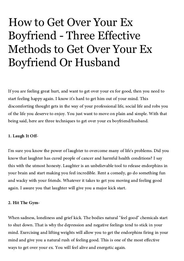 how to get over your boyfriend