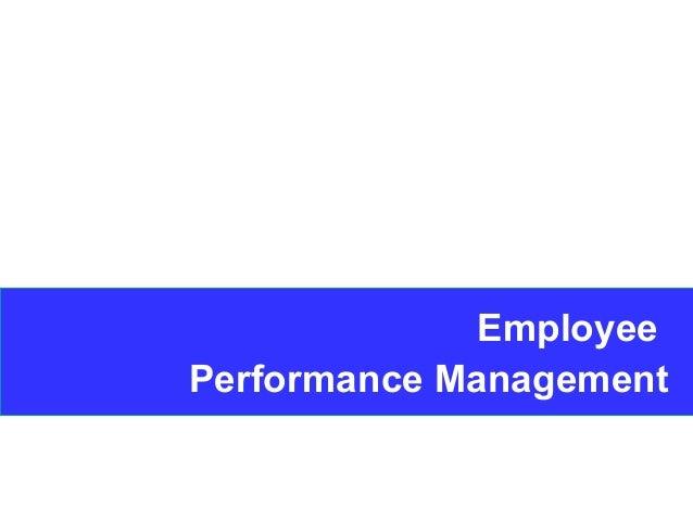 1 Employee Performance Management
