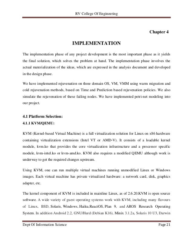 RV College Of Engineering Dept Of Information Science Page 21 Chapter 4 IMPLEMENTATION The implementation phase of any pro...