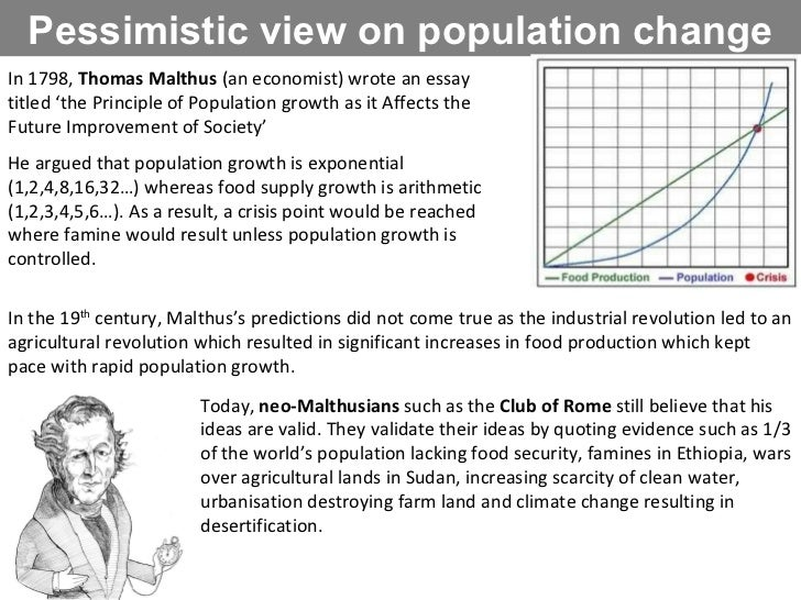an essay on population growth Introduction the rapid growth of the world's population over the past one hundred years results from a difference between the rate of birth and the rate of death.