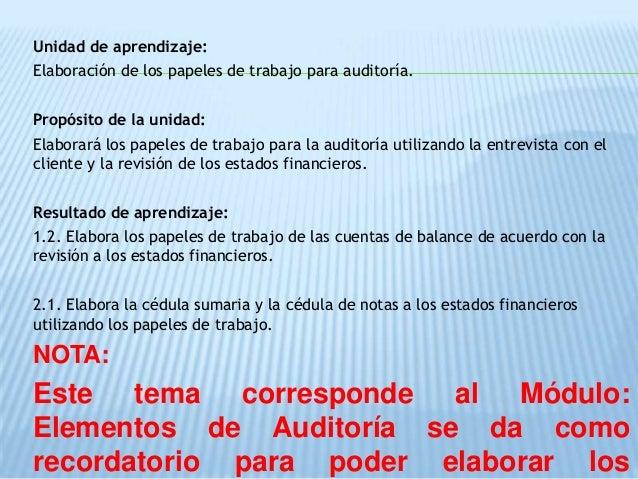 4 indices y marcas de auditoria