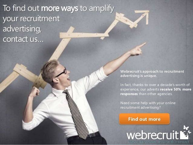 4 Tips To Amplify Your Recruitment Advertising | Webrecruit