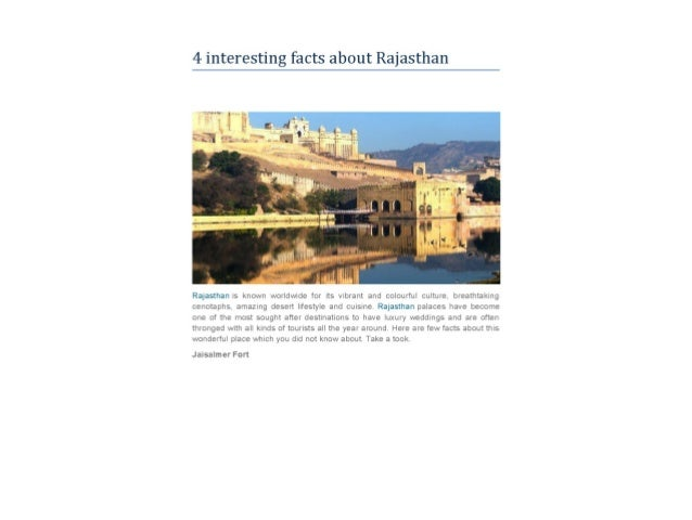 4 interesting facts_about_rajasthan
