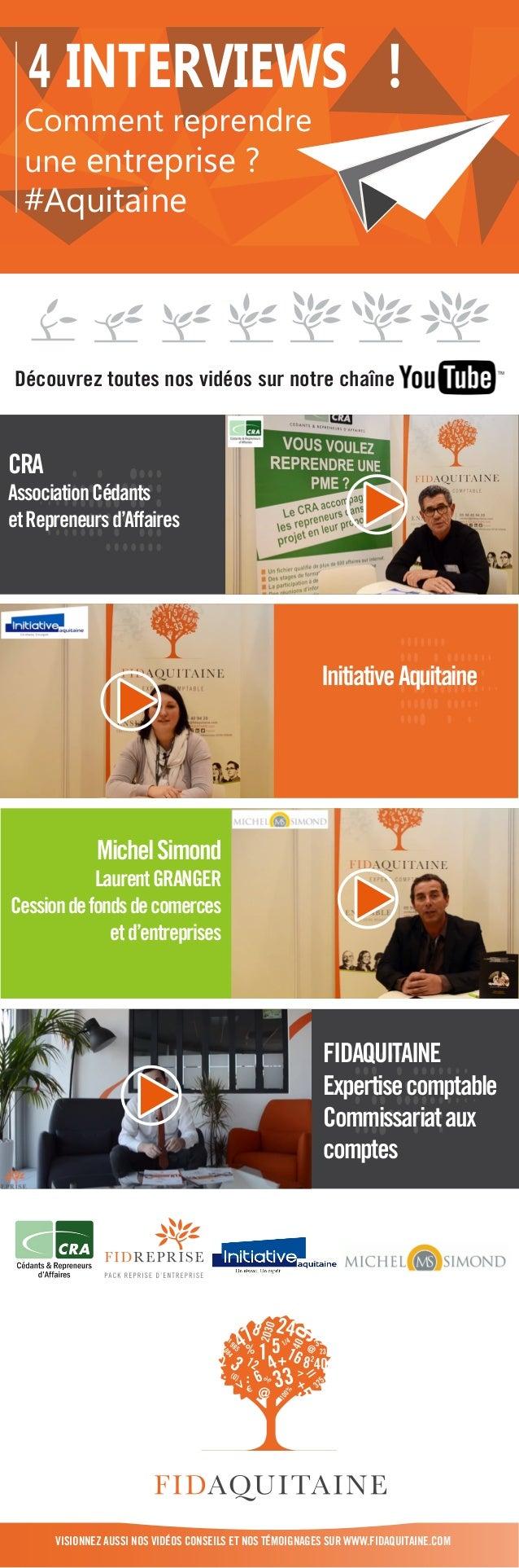 4 interviews   comment reprendre une entreprise en aquitaine