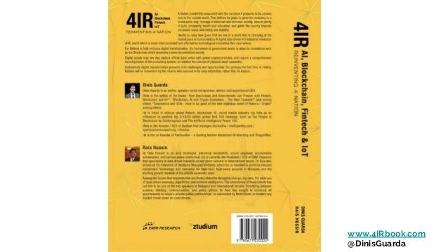 4IR AI Blockchain Fintech IoT book presentation by Dinis Guarda Slide 2