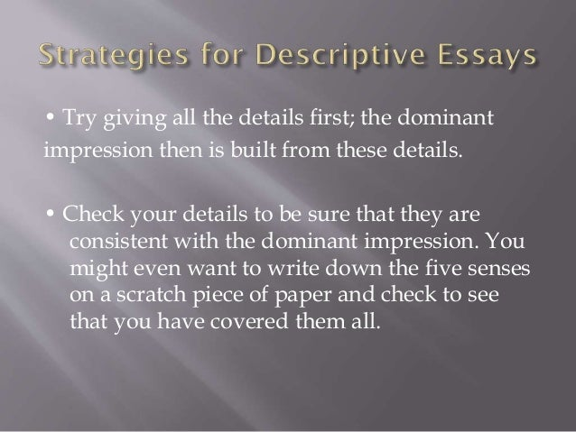 descriptive writing 7