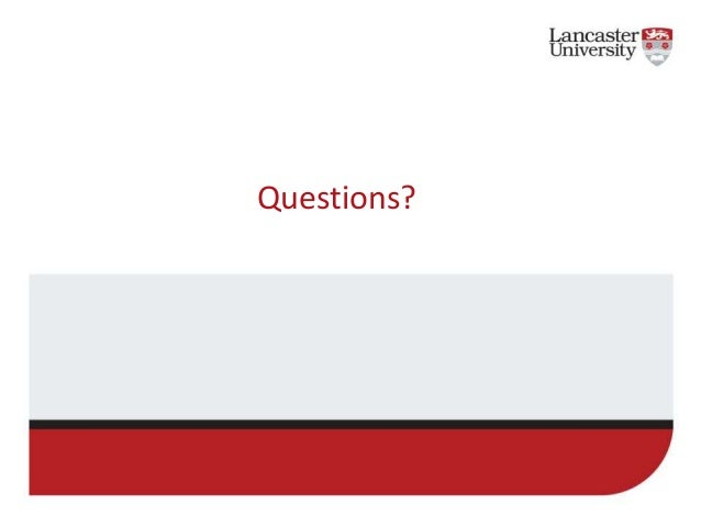 Security Overview At Lancaster University