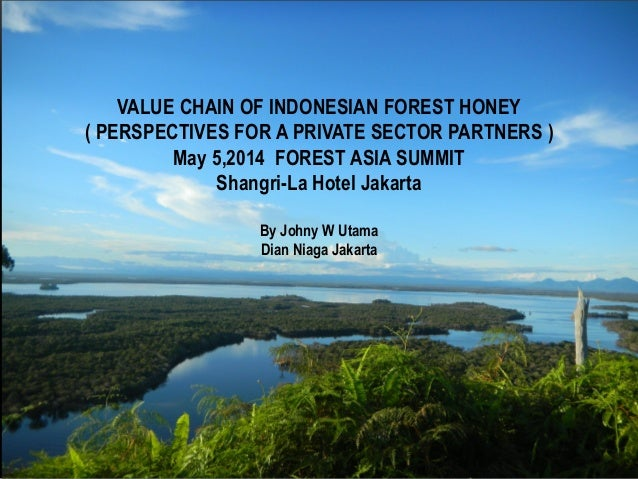 WORKING WITH FOREST HONEY VALUE CHAIN PLAYER BY JOHNY W. UTAMA VALUE CHAIN OF INDONESIAN FOREST HONEY ( PERSPECTIVES FOR A...