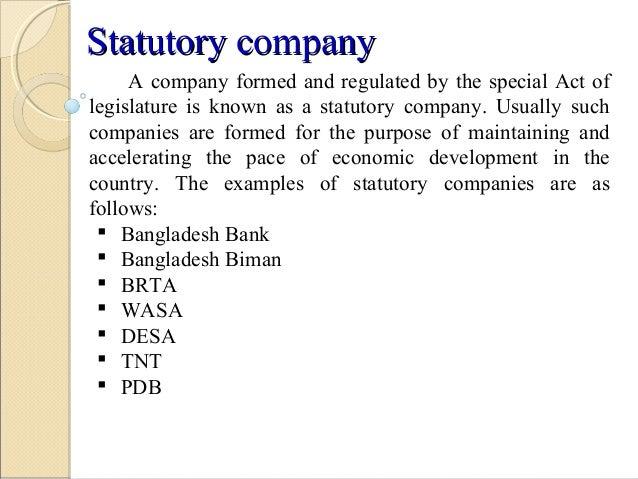 statutory company meaning