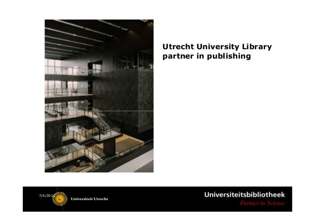 From services to partnering a new strategy for oa publishing in utre utrecht university library partner in publishing 742014 toneelgroepblik Gallery