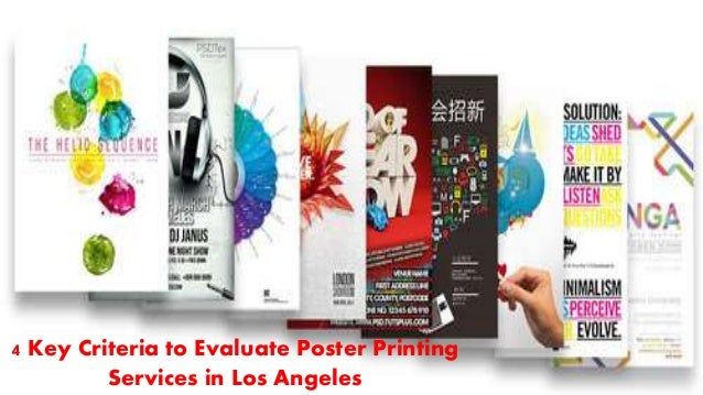 4 key criteria to evaluate poster printing services in los