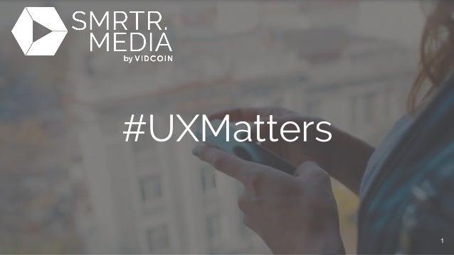 #UXMatters 1