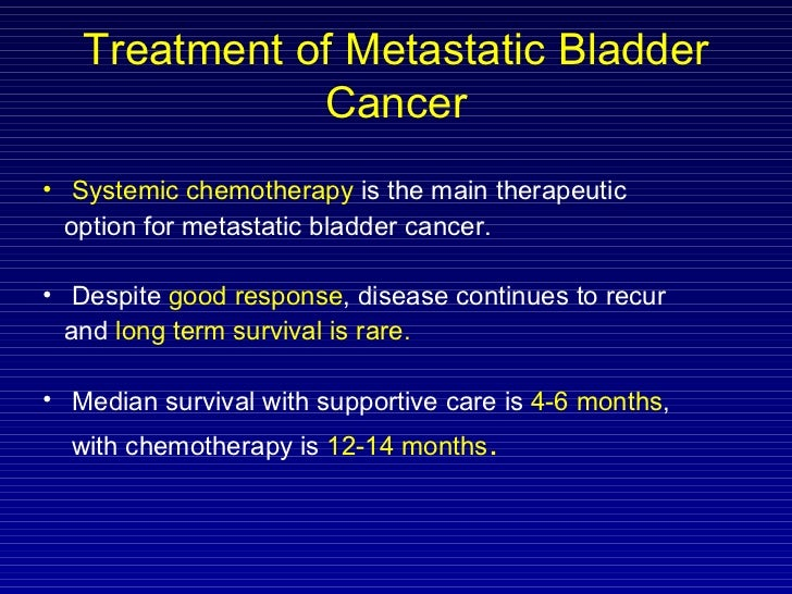 Four new cure permitted for metastatic bladder melanoma!