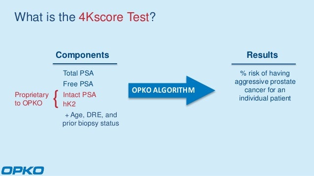 the 4kscore® blood test for risk of aggressive prostate cancer2015 nccn prostate cancer early detection guidelines; 5