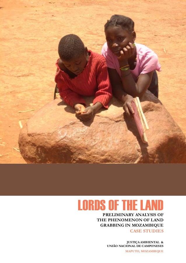 os senhores da terra - Justiça Ambiental e União Nacional de Camponeses Lords of the LandPreliminary Analysis of the Pheno...