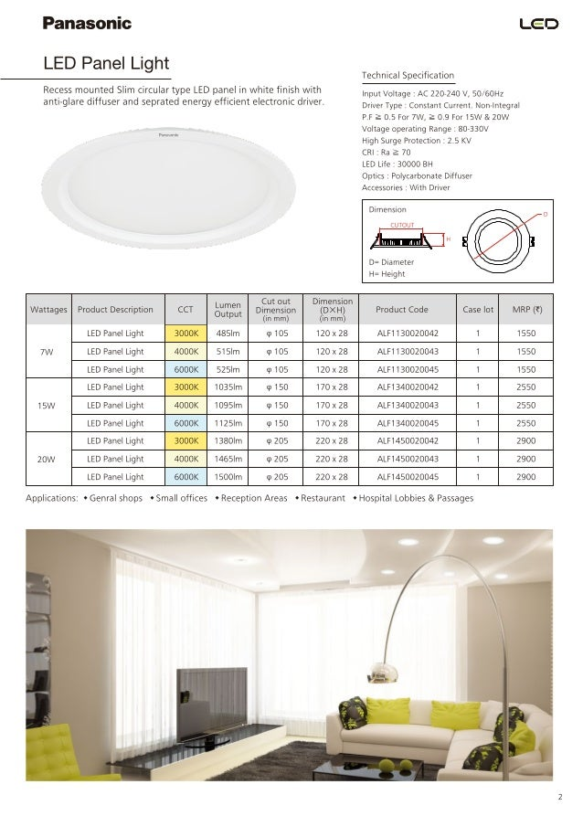 5 liatzasomic led panel light
