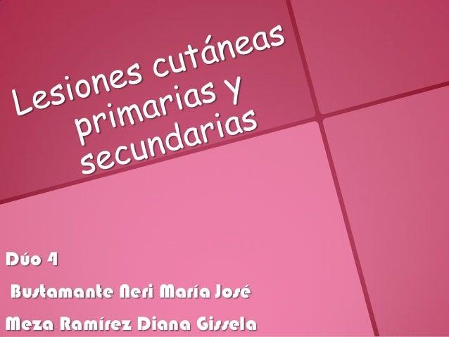 Dúo 4Bustamante Neri María JoséMeza Ramírez Diana Gissela