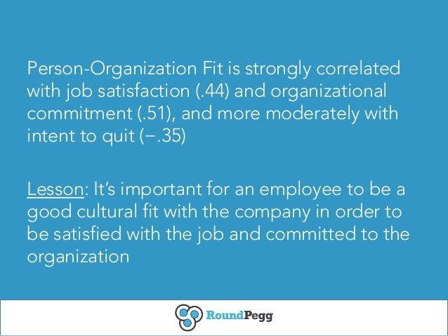 what is organizational fit