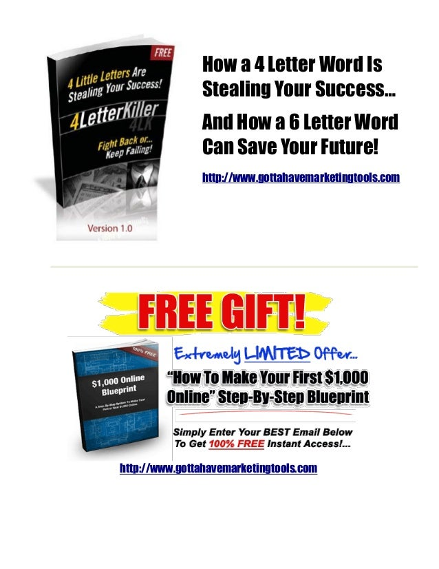 4 letter killer report how a 4 letter word is stealing your success and how a 6 letter word expocarfo Images